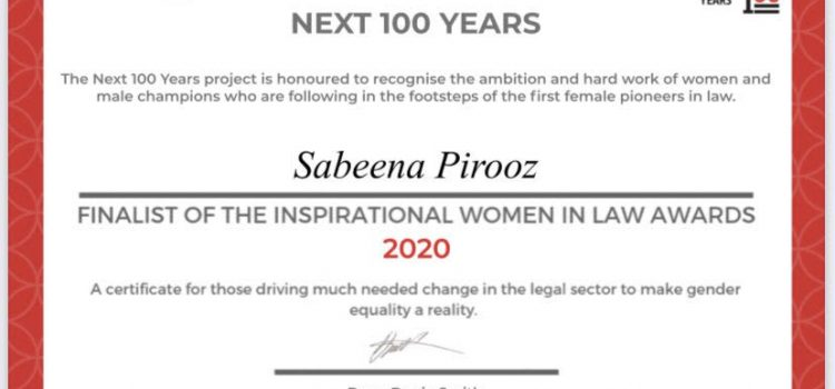 Director of the Sky Project named finalist for the Inspiration Women in Law Awards